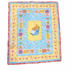 Beatrix Potter Peter Rabbit handmade baby quilt blanket